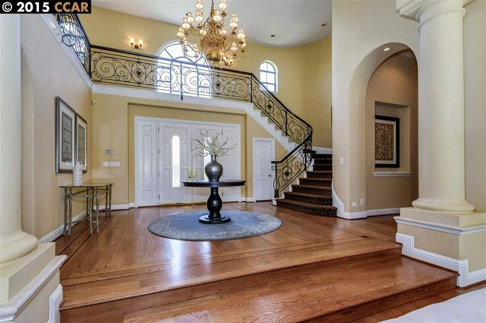 A two-story foyer