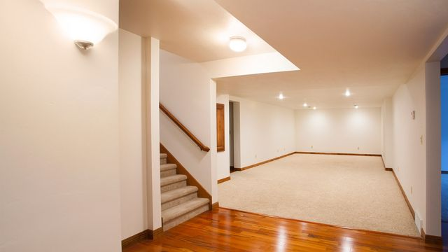 A fresh coat of paint and some new carpeting will make the basement more inviting.