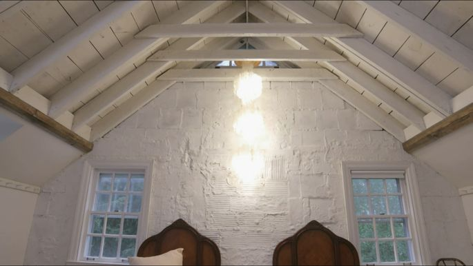 These ceiling joists are beautiful.