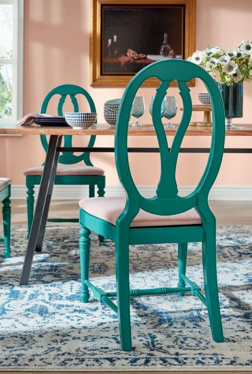 Dining chairs get a fresh new look.