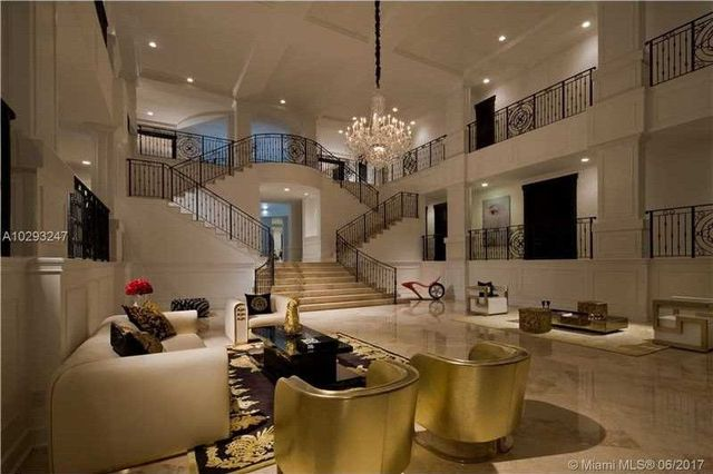 There are what appears to be acres of marble in this 20 square foot mansion