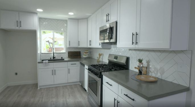This subway tile looks great in this home.