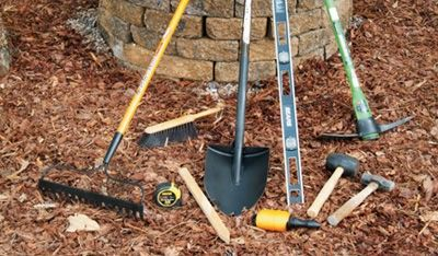Tools you'll need to build your fire pit.