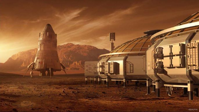 """Habitat as depicted in """"The Martian"""""""