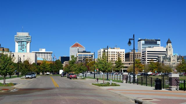 The un-congested streets of Wichita, Kansas.