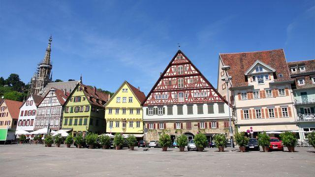 The town of Esslingen, Germany, neighboring Stuttgart
