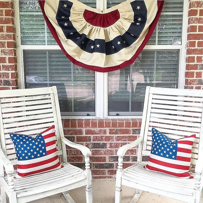 Flag cushions are out.