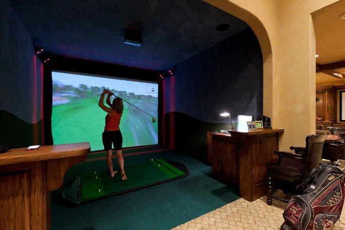 Golfers Gone Wild: 6 Homes With Indoor Golf Simulators | realtor.com®