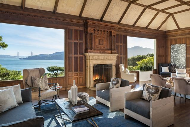 This Bay Area home that was once owned by venture capitalist Tom Perkins was marketed in 2016 as having been designed by architect Julia Morgan with George Kelham.