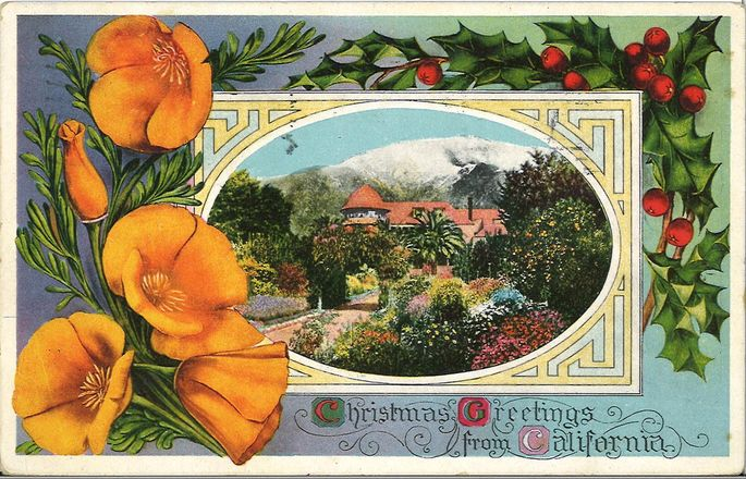 Postcard featuring the McNally mansion