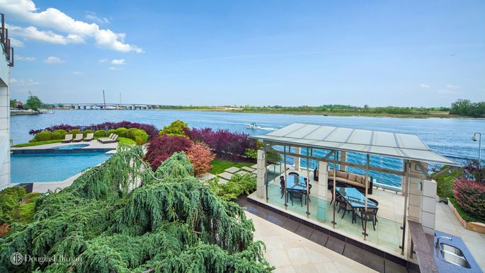 Brooklyn's most expensive home features a multislip marina, multiple terraces, and a swimming pool and spa.