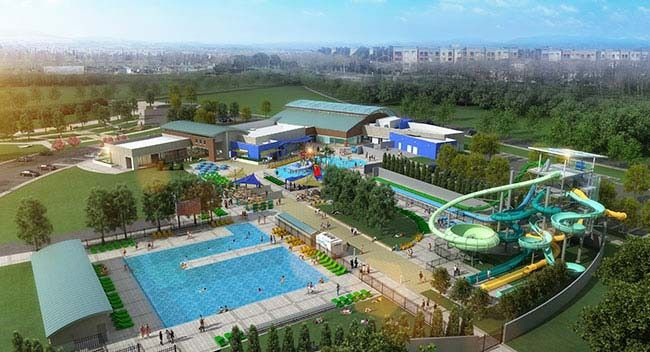 Emerald Glen Recreation & Aquatic Complex, under construction in Dublin, CA