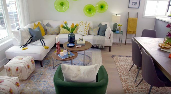 Now, guests can walk right into this bright, welcoming living space.