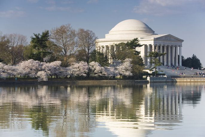 The Jefferson Memorial in Washington, DC, where rental prices have dropped during the pandemic.