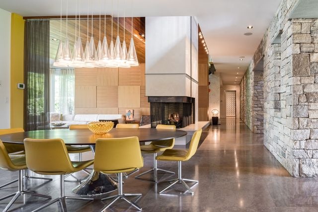 Dining room in Equinox founder NY home