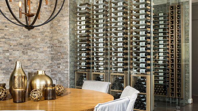 Toll Brothers wine showroom