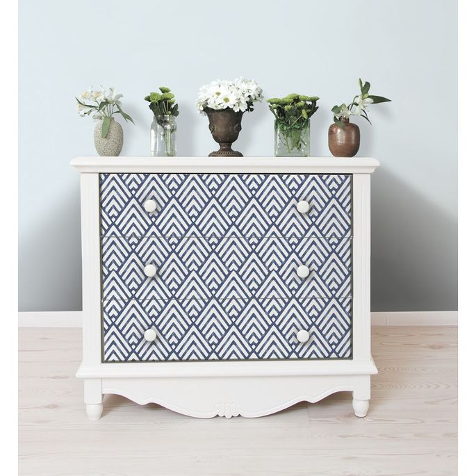 Removable wallpaper doesn't have to be used on walls.