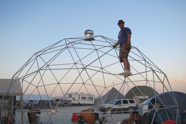 Randy Young built the dome to use at the Burning Man festival in Nevada.