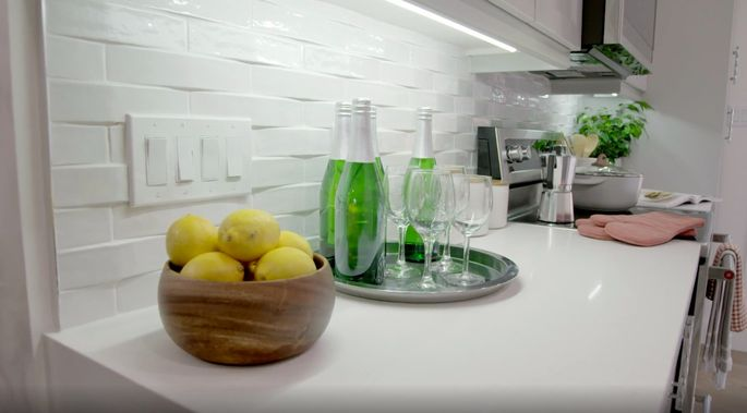 This backsplash is the perfect blend of traditional and modern.