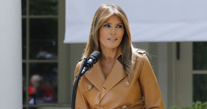 First Lady Melania Trump Discusses Her Initiatives In The Rose Garden Of The White House