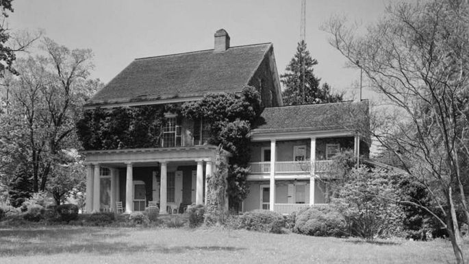 The Governor's House, aka Woodburn, in Delaware, seen in 1959