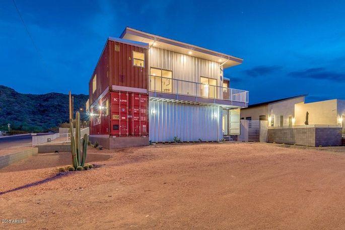 Super Desert Dazzler Phoenix Shipping Container Home Is Hot Hot Home Remodeling Inspirations Propsscottssportslandcom