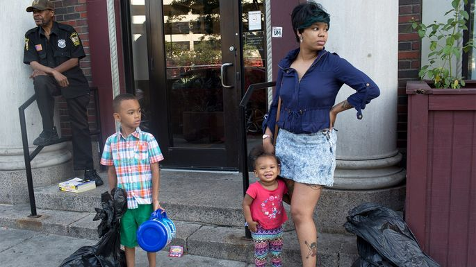 A family is forced toleave their home in Cleveland.