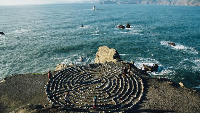 Meditation labyrinth at Sutro Baths in San Francisco