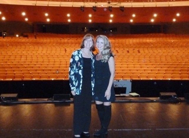 Mom and daughter during tour