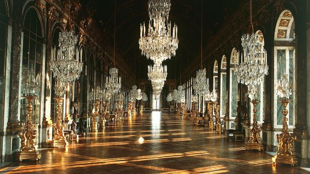 The-Hall of Mirrors, Palace of Versailles, France.