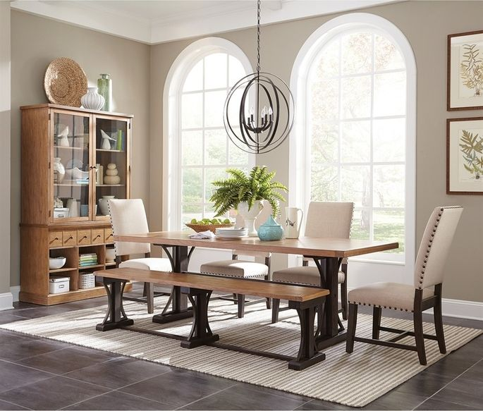 French farmhouse–inspired dining table
