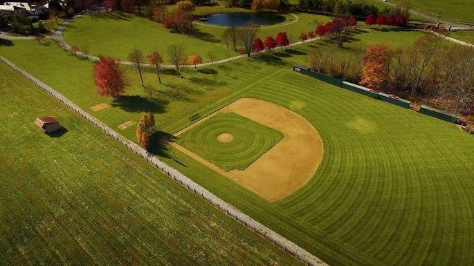 The baseball diamond