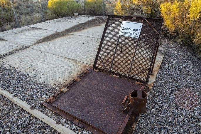 Entry to the missile silo