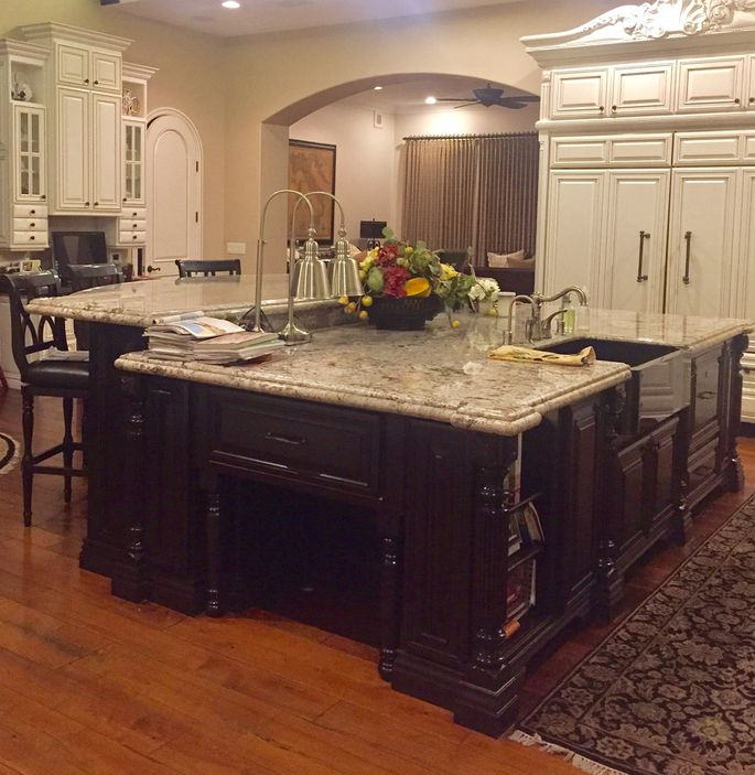 A Kitchen Island Bigger Than A King Size Bed