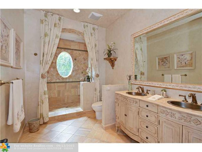 One of the seven full bathrooms