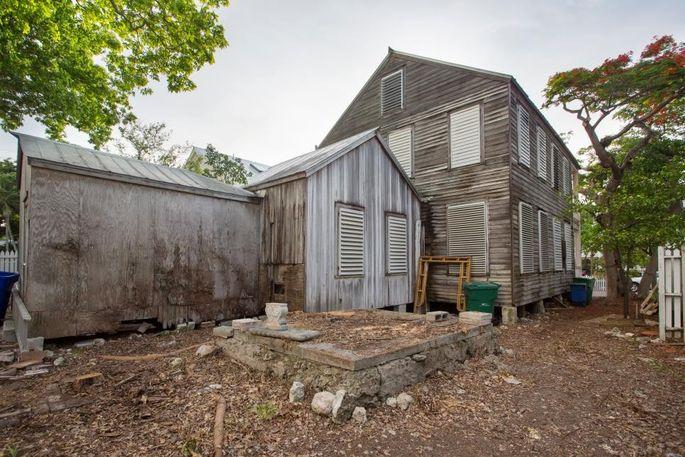 Backyard before the renovation