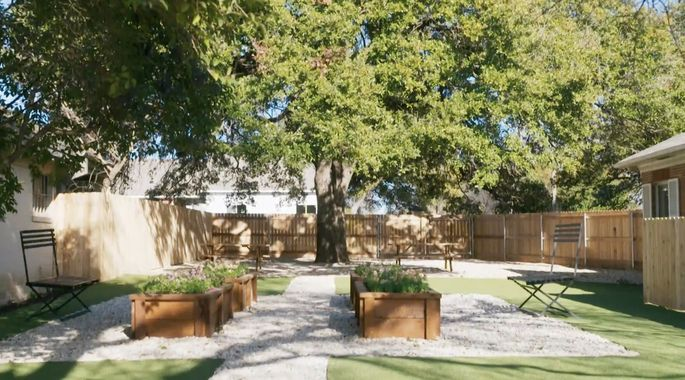 After: A garden is the perfect use of this space.