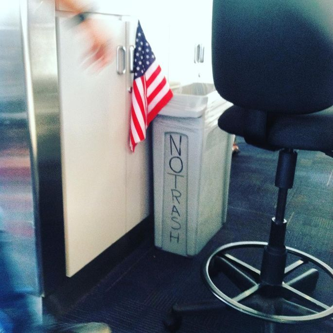 Never throw a flag in the trash. OK?