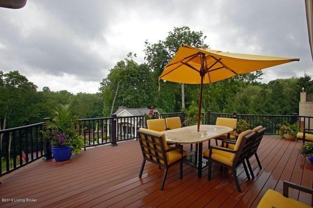 The home's deck, with a view