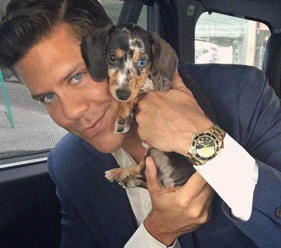Fredrik Eklund and his dog Mini
