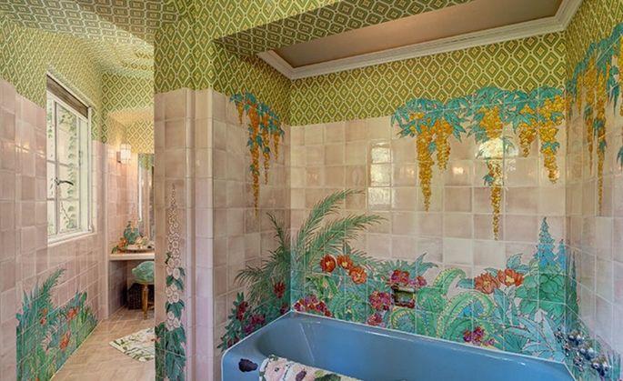 Original tile work in the bathroom