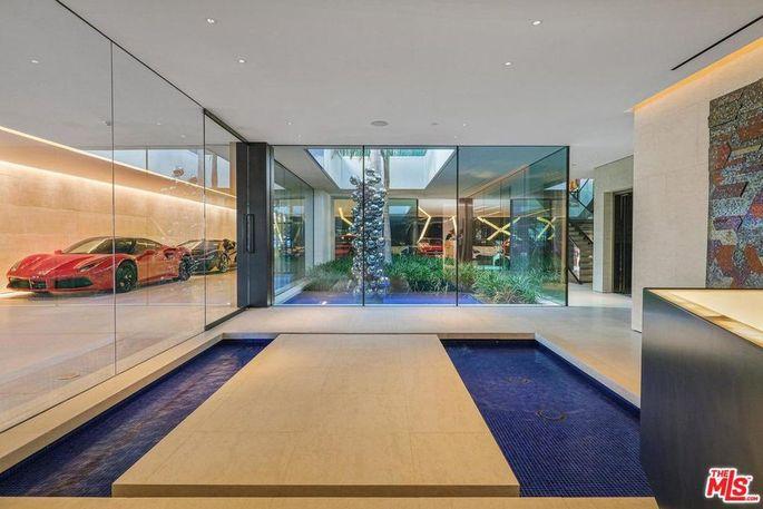 Atrium and garage