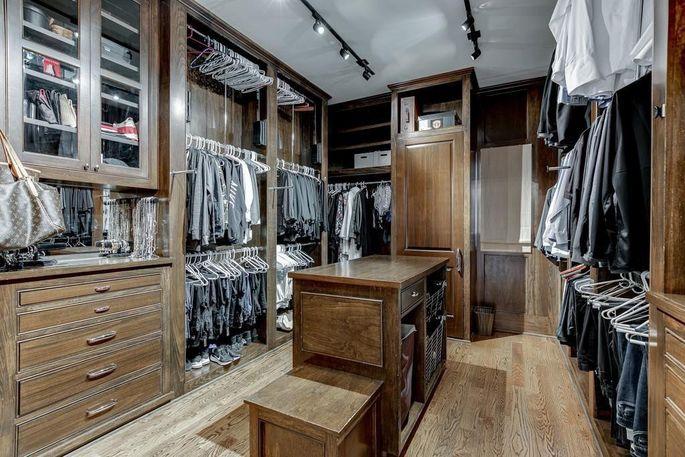 Expansive walk-in closet