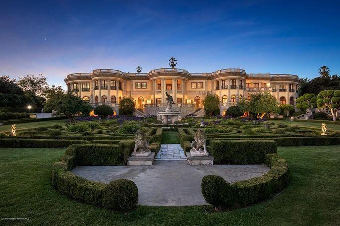 Dusk on the estate