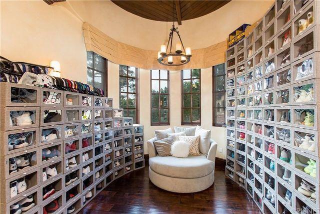 Milton Bradley shoe closet