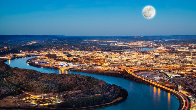View of downtown Chattanooga, TN