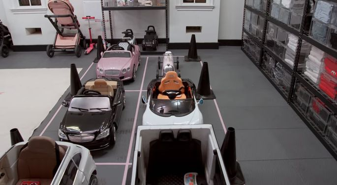 This mini parking lot is functional and adorable!