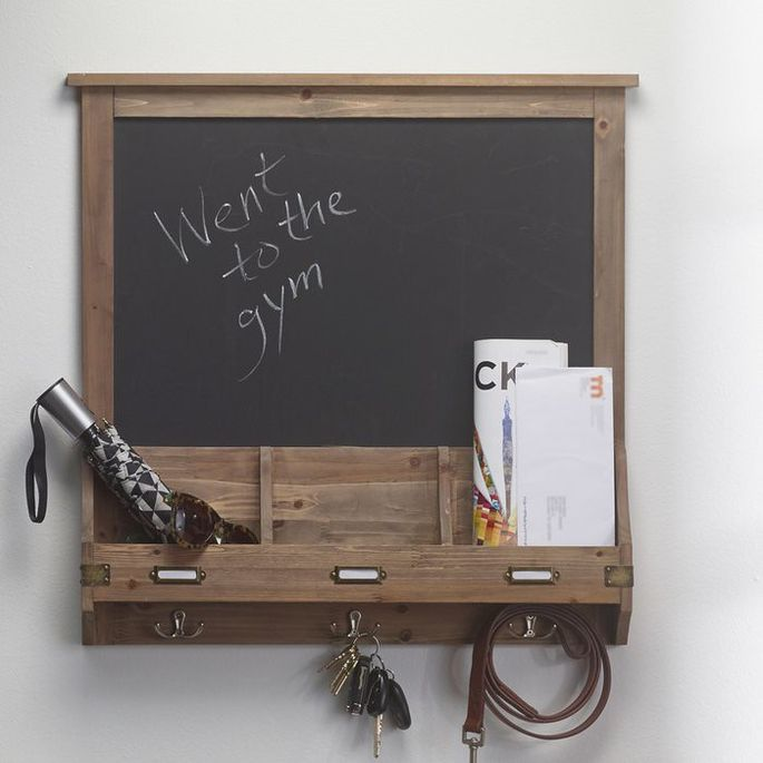 Mix a little rustic charm with some practicality with this organizational board.