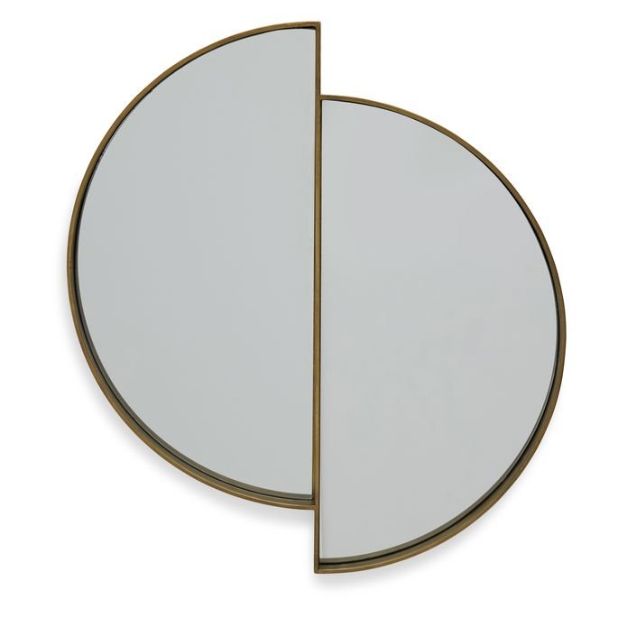 A plain round mirror? Nah—pick these off-center half-moons instead.
