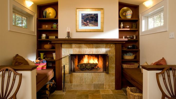 Inglenook. A Cozy Place To Gather The Family